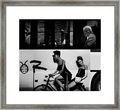 Contrasts Urban. Framed Print by Antonio Grambone