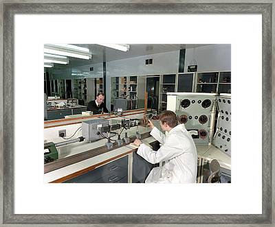 Control And Instrumentation Research Framed Print