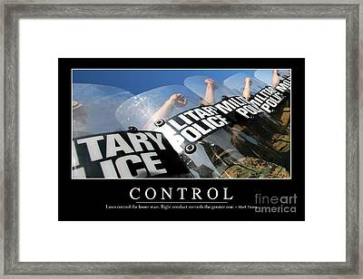 Control Inspirational Quote Framed Print by Stocktrek Images
