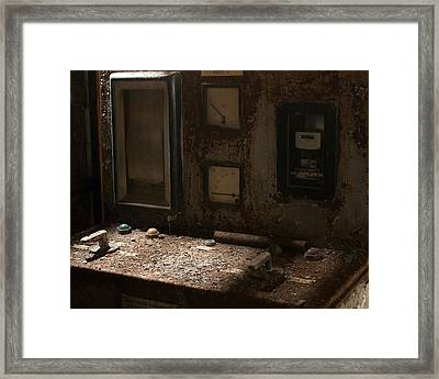 Control Panel In Decay Framed Print