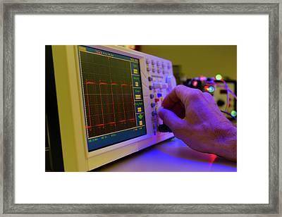 Control Panel In Lab Framed Print by Wladimir Bulgar