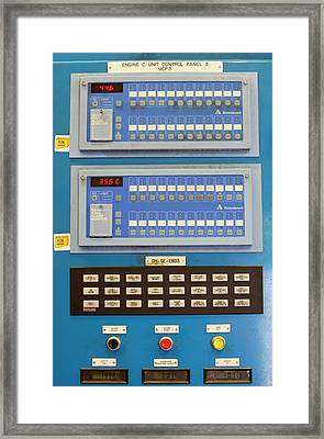 Control Panels For The Biogas Boilers Framed Print by Ashley Cooper