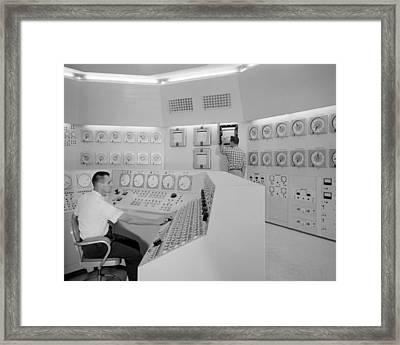 Control Room 1959 Framed Print by Gary Bodnar
