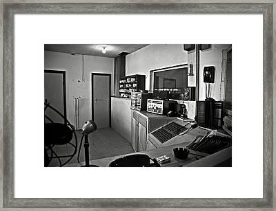 Control Room In Alcatraz Prison Framed Print