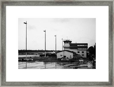 Control Tower At El Tepual Airport Puerto Montt Chile Framed Print