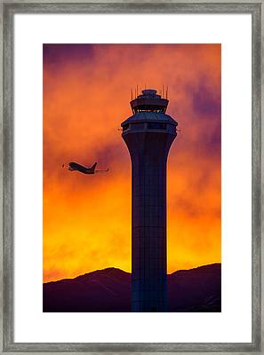 Control Tower Framed Print by Dustin  LeFevre