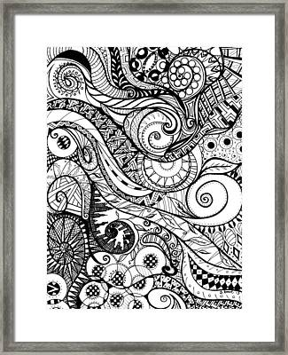 Controlled Chaos Framed Print by Shawna Rowe