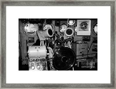 controls of the USS Intrepid at the Intrepid Sea Air Space Museum Framed Print by Joe Fox