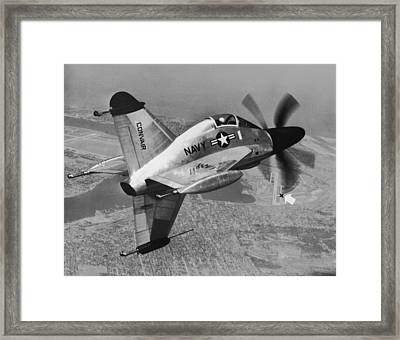 Convair's Xfy-1, pogo Framed Print by Underwood Archives