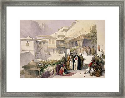 Convent Of St. Catherine, Mount Sinai Framed Print by David Roberts