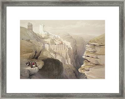 Convent Of St. Saba, April 4th 1839 Framed Print by David Roberts