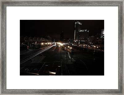 Convention Lights Framed Print