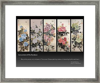 Convention Of The Rainbow Framed Print by Ping Yan
