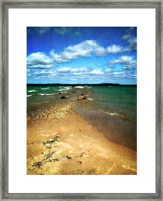 Convergence Framed Print by Michelle Calkins