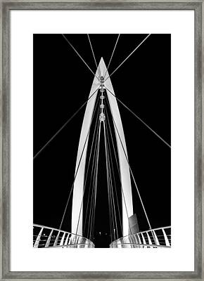 Convergence On Wichita Bw Framed Print by JC Findley