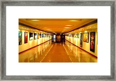 Convergence Paitings On Display At Muse Gallery Framed Print by Anand Swaroop Manchiraju