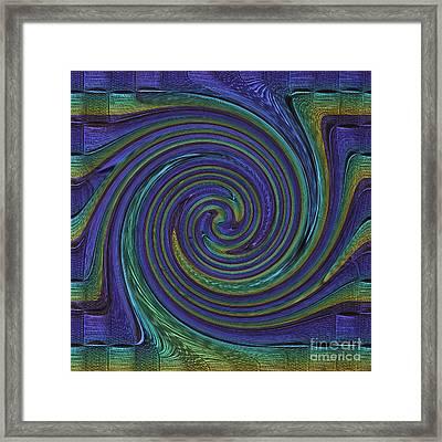 Converging Blue Framed Print