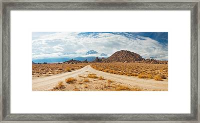 Converging Roads, Alabama Hills, Owens Framed Print by Panoramic Images