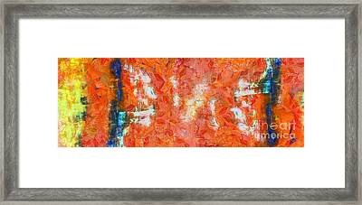 Conversation Abstract Framed Print by Edward Fielding