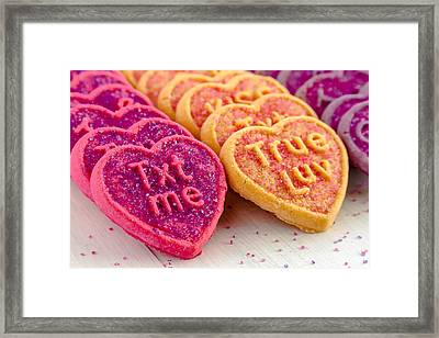 Conversation Heart Cookies Framed Print