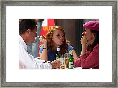 Conversation Framed Print by Stephen Norris