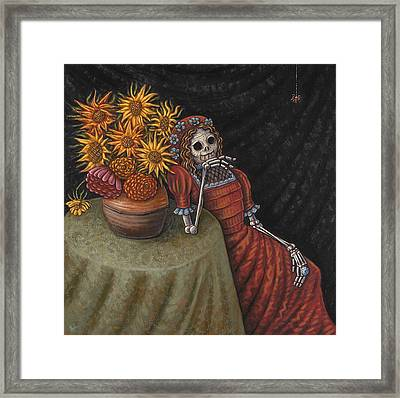 Conversation With A Spider Framed Print