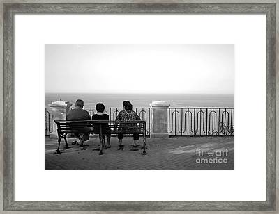 Conversations By The Sea Framed Print