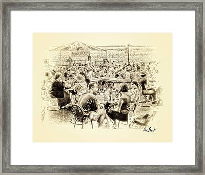 Conversations In Black And White Framed Print by Ron Pearl