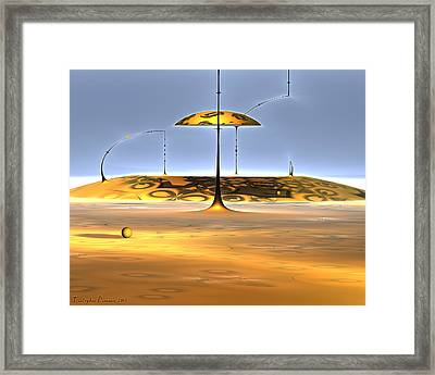 Conversations With Dali In The Mound. 2013 80/64 Cm. Framed Print by Tautvydas Davainis