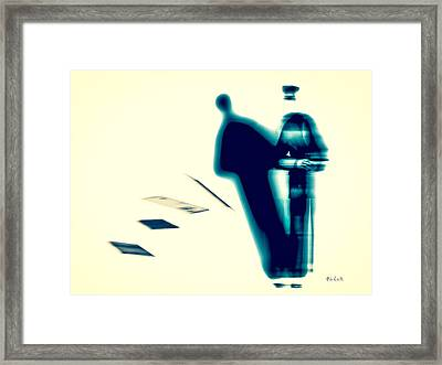 Conversations With The Postman Framed Print