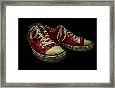 Converse No 2 - Red Framed Print by Lubos Kavka