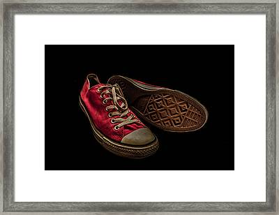 Converse No 3 - Red Framed Print by Lubos Kavka