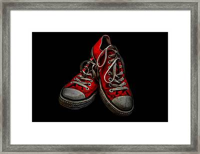 Converse No 4 - Red Framed Print by Lubos Kavka