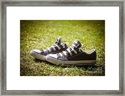 Converse Pumps Framed Print by Jane Rix
