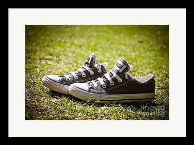 Sneaker Lace Framed Prints