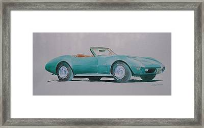 Convertible  Framed Print by John  Svenson