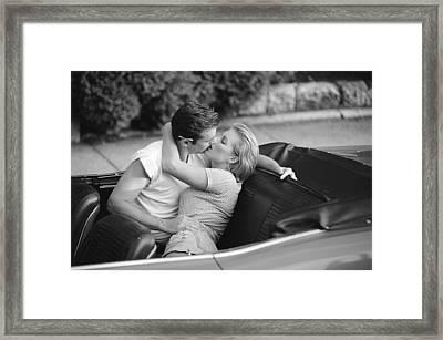 Convertible Romance Framed Print by Jon Neidert