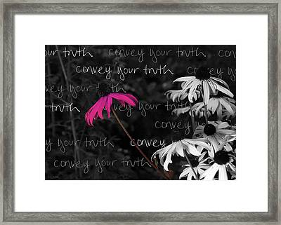 Framed Print featuring the photograph Convey Your Truth by Lauren Radke