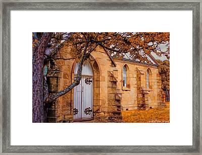 Convict Built Church 1873 Framed Print