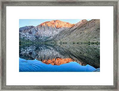 Convict Lake At Sunrise Framed Print