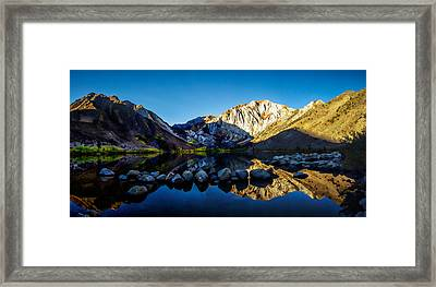 Convict Lake Fall Sunrise Framed Print by Scott McGuire