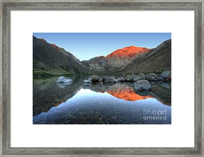 Convict Lake First Light Framed Print by Marco Crupi