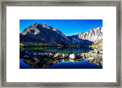 Convict Lake Sunrise Reflection Framed Print by Scott McGuire