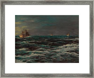 Convoy Morning North Atlantic Wwii Framed Print
