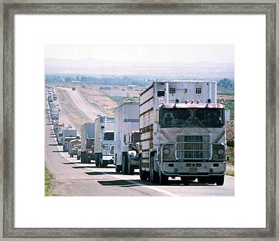 Convoy  Framed Print by Silver Screen