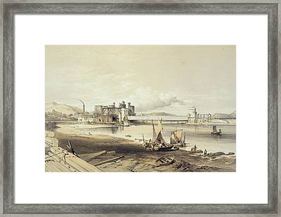 Conway Bridge, Construction Of Second Framed Print by George Hawkins