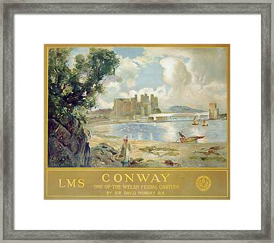 Conway Castle Framed Print by Sir David Murray