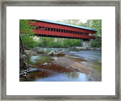 Conway Covered Bridge Framed Print by Andrea Galiffi