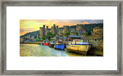 Conwy Castle And Harbour Framed Print
