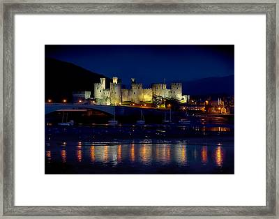 Conwy Castle At Night Framed Print